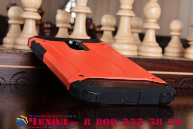 Противоударный усиленный ударопрочный фирменный чехол-бампер-пенал для Huawei Honor 6X (BLN-AL10) 5.5 красный