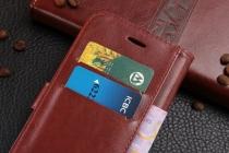 Фирменный чехол-книжка из качественной импортной кожи с мульти-подставкой застёжкой и визитницей для Huawei Honor 7 Plus черный