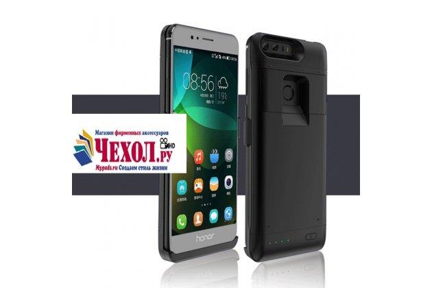 Чехол-бампер со встроенной усиленной мощной батарей-аккумулятором большой повышенной расширенной ёмкости 4200mAh для Huawei Honor 8 (FRD-AL00) 5.2 черный + гарантия