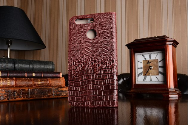 Фирменный роскошный эксклюзивный чехол с объёмным 3D изображением кожи крокодила бордовый для Huawei Honor 8 Pro 5.7/Huawei Honor V9 5.7(DUK-AL20) . Только в нашем магазине. Количество ограничено