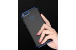 Фирменная ультра-тонкая полимерная задняя панель-чехол-накладка из силикона для Huawei Honor 8 Pro 5.7/Huawei Honor V9 5.7(DUK-AL20) прозрачная с синей окаемкой