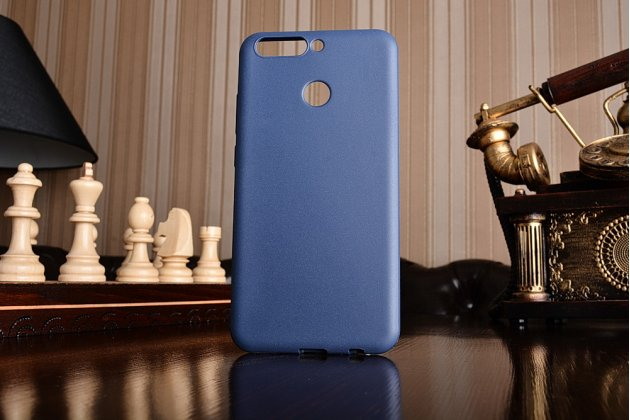 Фирменная ультра-тонкая полимерная из мягкого качественного силикона задняя панель-чехол-накладка для Huawei Honor 8 Pro 5.7/Huawei Honor V9 5.7(DUK-AL20) синего цвета