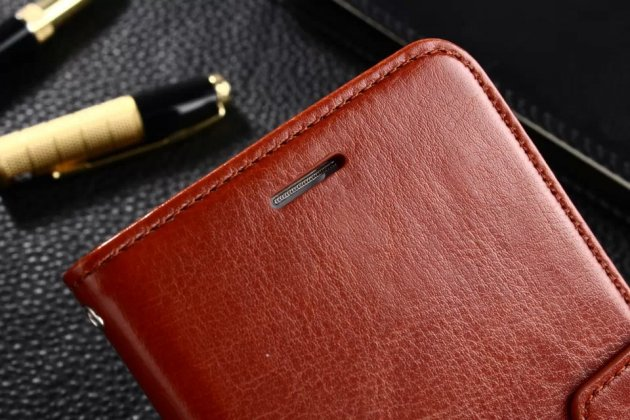 Фирменный чехол-книжка из качественной импортной кожи с подставкой застёжкой и визитницей для Huawei Honor 8 Pro 5.7/Huawei Honor V9 5.7(DUK-AL20) коричневый