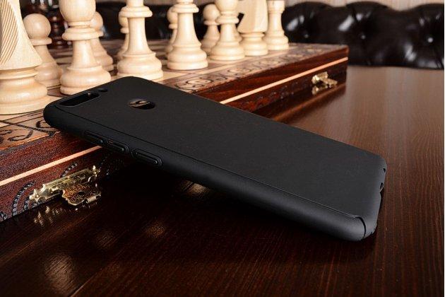 Фирменный уникальный чехол-бампер-панель с полной защитой дисплея и телефона по всем краям и углам для Huawei Honor 8 Pro 5.7/Huawei Honor V9 5.7(DUK-AL20) чёрного цвета