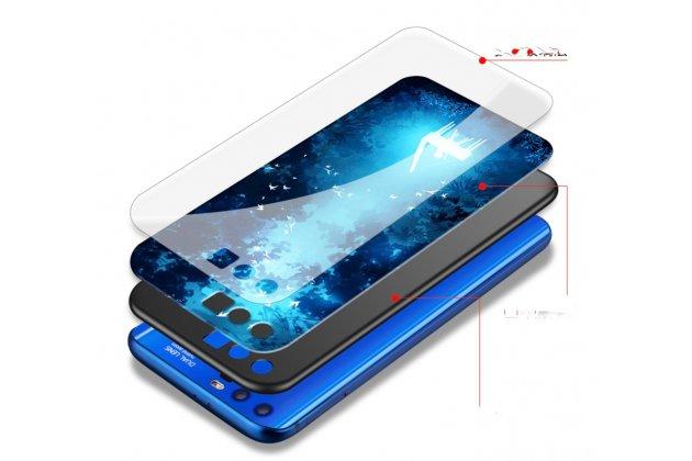 """Фирменная ультра-тонкая из мягкого качественного силикона с зеркальным закаленным стеклом задняя панель-чехол-накладка для Huawei Honor 9 """"Тематика Пианино"""""""