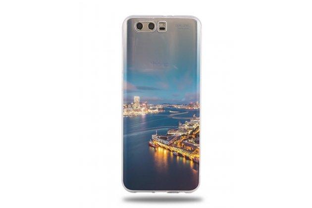 Фирменная ультра-тонкая полимерная из мягкого качественного силикона задняя панель-чехол-накладка для Huawei Honor 9 Город на реке