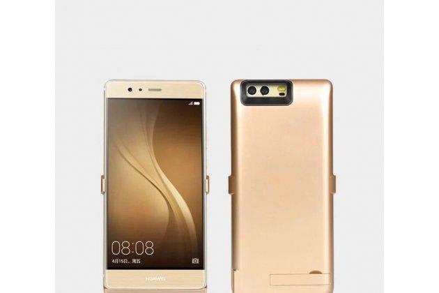Чехол-бампер со встроенной усиленной мощной батарей-аккумулятором большой повышенной расширенной ёмкости 7000 mAh для Huawei Honor 9 золото