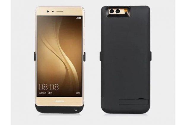 Чехол-бампер со встроенной усиленной мощной батарей-аккумулятором большой повышенной расширенной ёмкости 6000mAh для Huawei Honor 9 черный