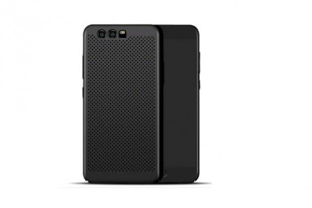 Фирменная роскошная задняя панель-чехол-накладка  из ультра-тонкого пластика перфорированная на Huawei Honor 9 черная