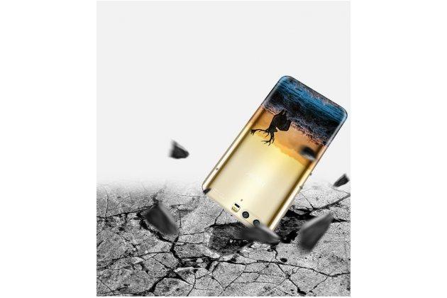 Фирменная ультра-тонкая полимерная из мягкого качественного силикона задняя панель-чехол-накладка для Huawei Honor 9 лось полупрозрачная