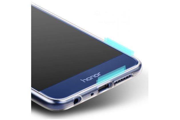 Фирменная ультра-тонкая полимерная из мягкого качественного силикона задняя панель-чехол-накладка для Huawei Honor 9 прозрачная