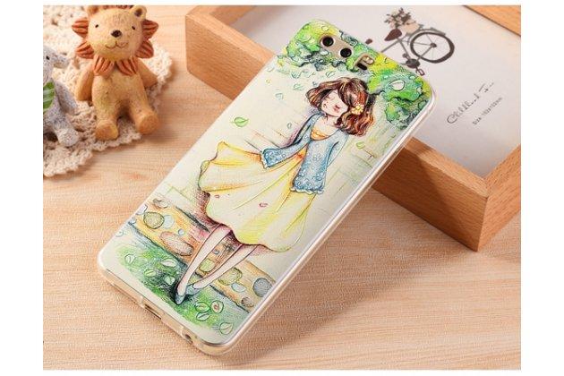 """Фирменная ультра-тонкая полимерная из мягкого качественного силикона задняя панель-чехол-накладка для Huawei Honor 9 """"Тематика девушка"""""""