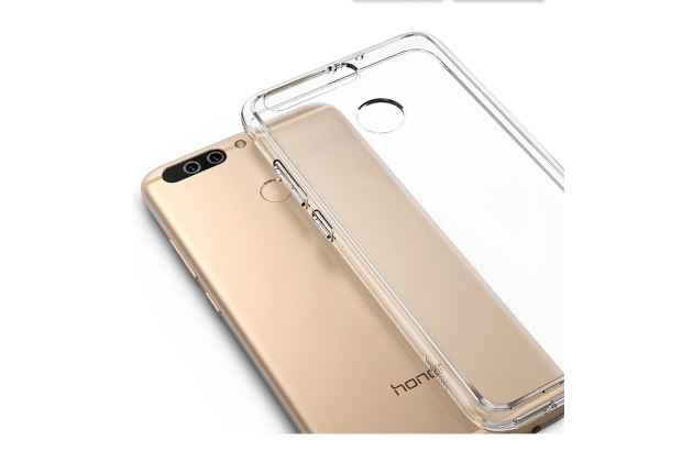 Фирменная задняя панель-чехол-накладка с защитными заглушками с защитой боковых кнопок для Huawei Honor 9 прозрачная прозрачная