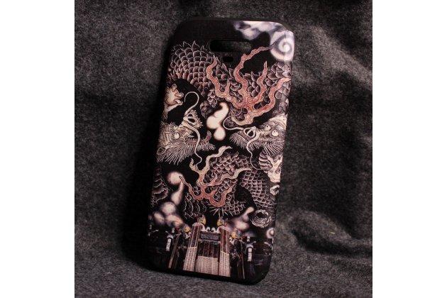 Фирменная уникальная задняя панель-крышка-накладка из тончайшего силикона для Huawei Honor Magic с объёмным 3D рисунком тематика Дракон