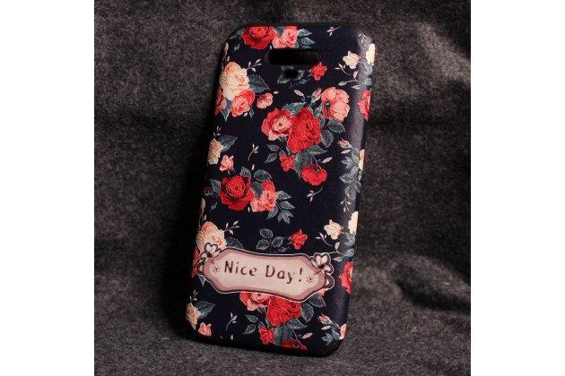 Фирменная уникальная задняя панель-крышка-накладка из тончайшего силикона для Huawei Honor Magic с объёмным 3D рисунком тематика Винтажные розы