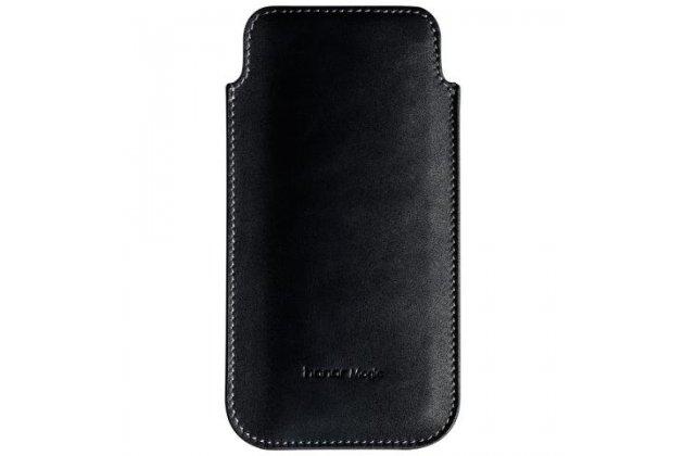 """Премиальный чехол-сумка-карман с логотипом для Huawei Honor Magic из натуральной кожи черный """"Ретро"""""""