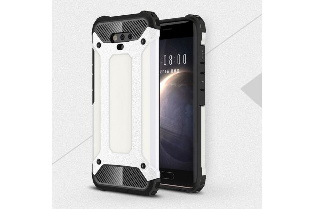 Противоударный усиленный ударопрочный фирменный чехол-бампер-пенал для Huawei Honor Magic белый