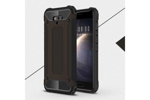 Противоударный усиленный ударопрочный фирменный чехол-бампер-пенал для Huawei Honor Magic черный