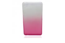 """Фирменная ультра-тонкая полимерная задняя панель-чехол-накладка из силикона для Huawei Honor Pad 2 (JDN-W09/AL00)"""" прозрачная с эффектом грозы"""