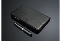 """Фирменный премиальный чехол бизнес класса для Huawei Honor Pad 2 (JDN-W09/AL00)"""" с визитницей из качественной импортной кожи черный"""