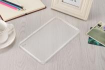 """Фирменная ультра-тонкая полимерная из мягкого качественного силикона задняя панель-чехол-накладка для Huawei Honor Pad 2 (JDN-W09/AL00)"""" белая"""