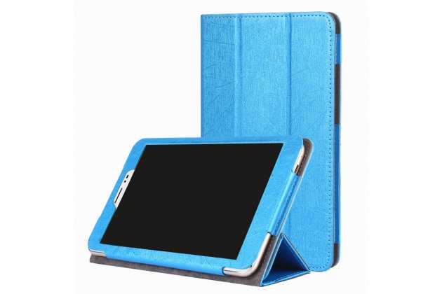 """Фирменный чехол-футляр-книжка для Huawei Honor Pad 2 (JDN-W09/AL00)""""/Huawei MediaPad T2 8 Pro синий кожаный"""