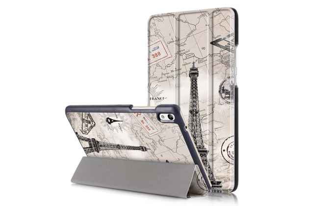 "Фирменный необычный чехол для  Huawei Honor Pad 2 (JDN-W09/AL00)"" / Huawei MediaPad T2 8 Pro ""тематика Париж"""