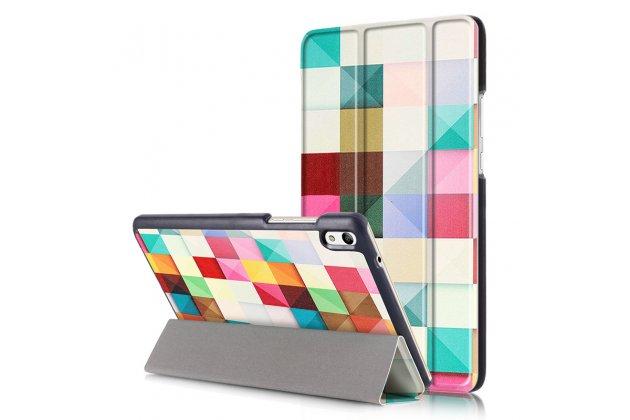 "Фирменный необычный чехол для  Huawei Honor Pad 2 (JDN-W09/AL00)"" /Huawei MediaPad T2 8 Pro  ""тематика яркая Мозаика"""