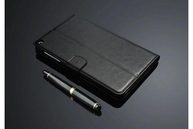 """Фирменный премиальный чехол бизнес класса для Huawei Honor Pad 2 (JDN-W09/AL00)"""" / Huawei MediaPad T2 8 Pro с визитницей из качественной импортной кожи черный"""
