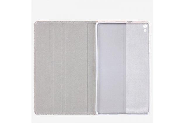 """Фирменный премиальный элитный чехол-книжка из качественной импортной кожи с мульти-подставкой для   Huawei Honor Pad 2 (JDN-W09/AL00)"""" коричневый"""
