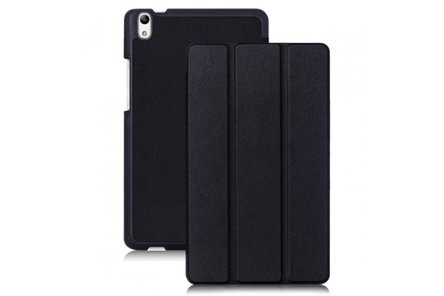 """Фирменный умный чехол самый тонкий в мире для Huawei Honor Pad 2 (JDN-W09/AL00)"""" / Huawei MediaPad T2 8 Pro черный пластиковый Италия"""