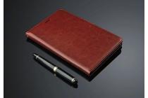 """Фирменный премиальный чехол бизнес класса для  с визитницей из качественной импортной кожи Huawei Honor Pad 2 (JDN-W09/AL00)"""" коричневый"""