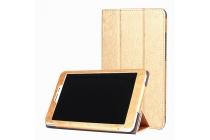 """Фирменный чехол-футляр-книжка для Huawei Honor Pad 2 (JDN-W09/AL00)""""  золотой кожаный"""