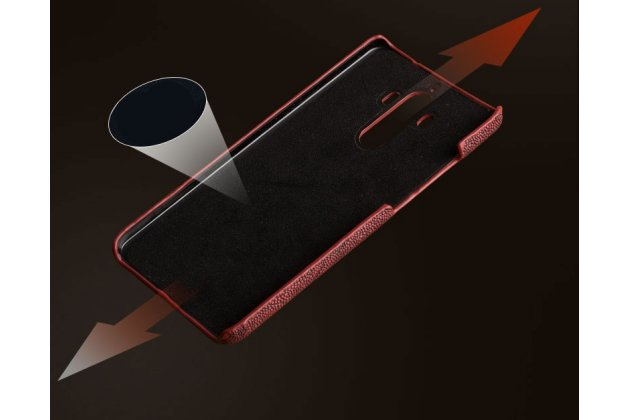 Фирменная элегантная экзотическая задняя панель-крышка с фактурной отделкой натуральной кожи крокодила кофейного цвета для Huawei Mate 10 Pro. Только в нашем магазине. Количество ограничено.