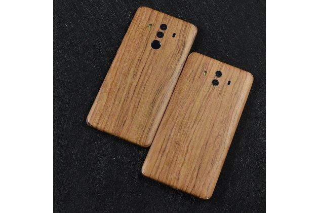 Фирменная оригинальная деревянная из натурального бамбука задняя панель-крышка-накладка для Huawei Mate 10 Pro светло-коричневая