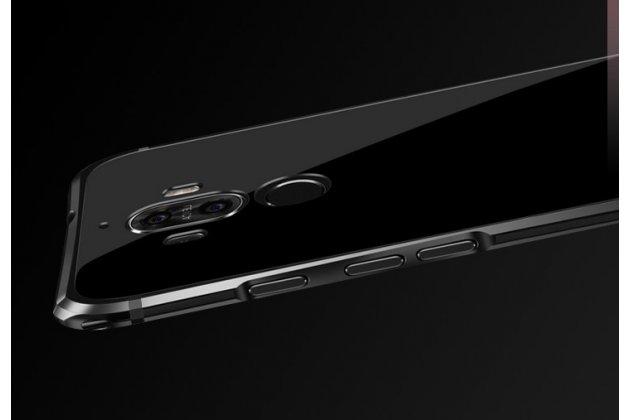 Фирменная металлическая задняя панель-крышка-накладка из тончайшего облегченного авиационного алюминия для Huawei Mate 10 Pro черная