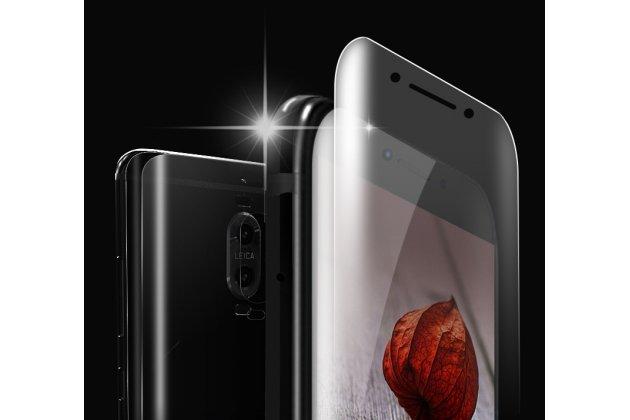 Фирменная оригинальная 3D защитная пленка с закругленными краями которое полностью закрывает экран для телефона Huawei Mate 10 Pro глянцевая