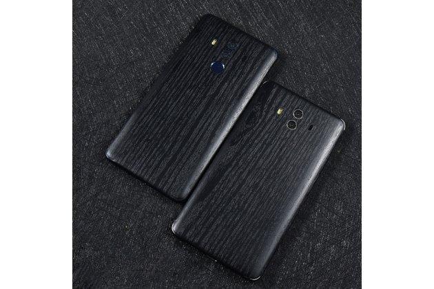 Фирменная оригинальная деревянная из натурального бамбука задняя панель-крышка-накладка для Huawei Mate 10 Pro черная