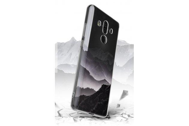 """Фирменная ультра-тонкая полимерная из мягкого качественного силикона задняя панель-чехол-накладка для Huawei Mate 10 Pro с изображением """"Горы ночью"""""""