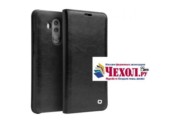 Фирменный премиальный элитный чехол-книжка из качественной импортной кожи с мульти-подставкой и визитницей для Huawei Mate 10 Pro черный