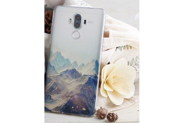 """Фирменная ультра-тонкая полимерная из мягкого качественного силикона задняя панель-чехол-накладка для Huawei Mate 10 Pro с изображением """"Горы"""""""