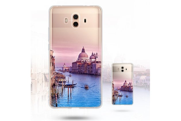 """Фирменная ультра-тонкая полимерная из мягкого качественного силикона задняя панель-чехол-накладка для Huawei Mate 10 Pro с изображением """"Венеция"""""""
