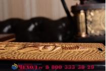 """Фирменный роскошный эксклюзивный чехол с объёмным 3D изображением кожи крокодила коричневый для Huawei Mate 9 Pro 5.5"""" (LON-L29). Только в нашем магазине. Количество ограничено"""