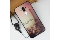 """Фирменная роскошная задняя панель-чехол-накладка из мягкого силикона с объемным  3D изображением  на Huawei Mate 9 c с безумно красивым рисунком  тематика """"Париж"""""""
