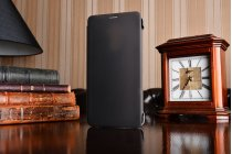 Фирменный оригинальный подлинный чехол с логотипом для Huawei Mate 9 Smart Wake коричневый