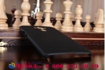 Фирменная задняя панель-крышка-накладка из тончайшего и прочного пластика для Huawei Mate 9 черная