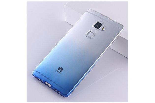 Фирменная ультра-тонкая полимерная задняя панель-чехол-накладка из силикона для Huawei Mate S 5.5 прозрачная с эффектом дождя