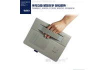 Фирменный чехол бизнес класса для Huawei MediaPad M2 10.0 M2-A01W/L 10.1 с визитницей и держателем для руки синий натуральная кожа Prestige Италия