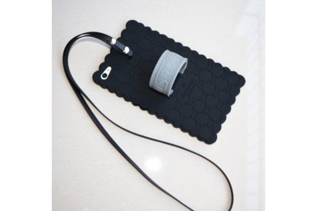 Фирменная ультра-тонкая из мягкого качественного силикона противоударная задняя панель-чехол-накладка для Huawei MediaPad M2 7.0 (PLE-703L) черная