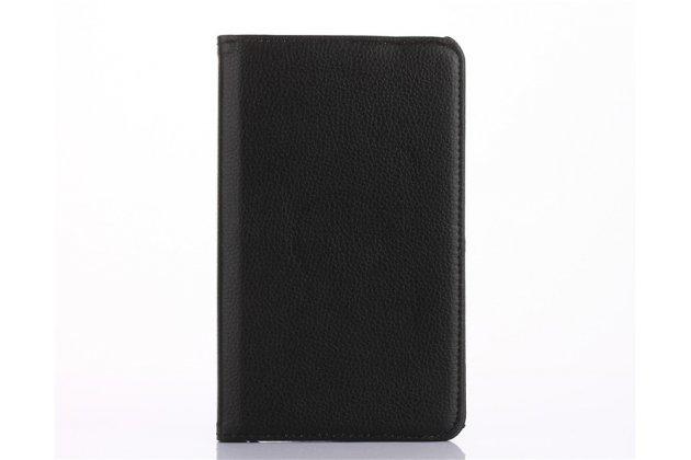 Чехол для планшета Huawei MediaPad M2 7.0 (PLE-703L) поворотный роторный оборотный черный кожаный